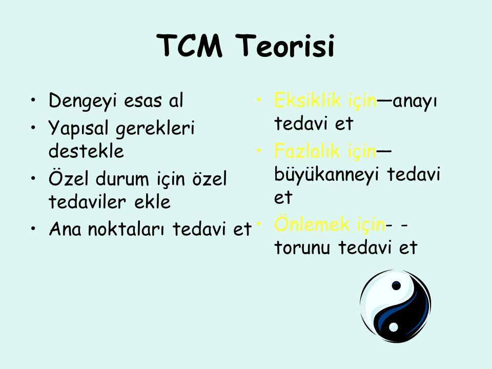 TCM Teorisi Dengeyi esas al Yapısal gerekleri destekle