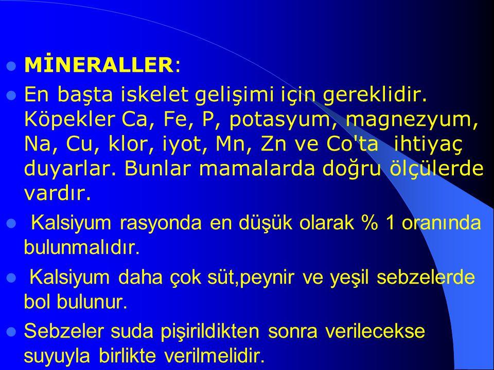 MİNERALLER: