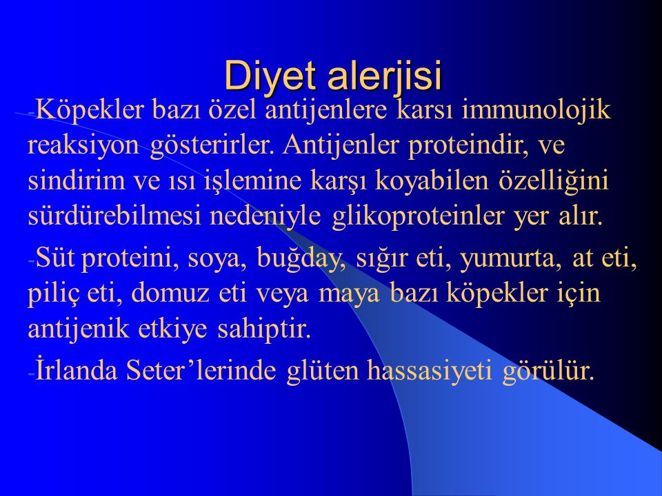 Diyet alerjisi