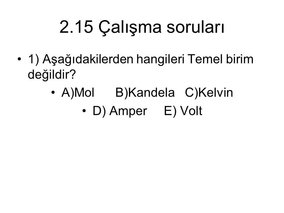 A)Mol B)Kandela C)Kelvin