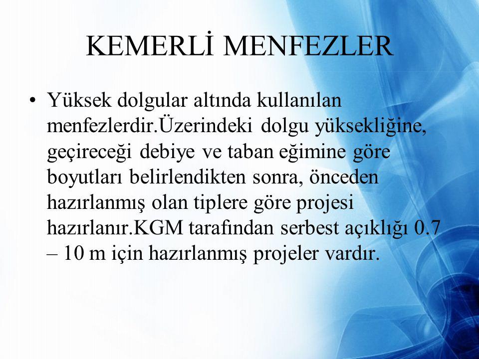 KEMERLİ MENFEZLER