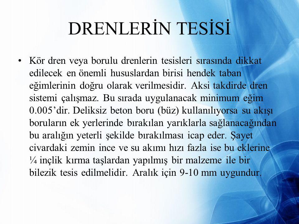 DRENLERİN TESİSİ