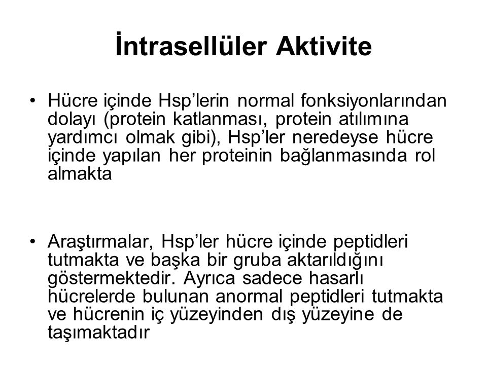 İntrasellüler Aktivite
