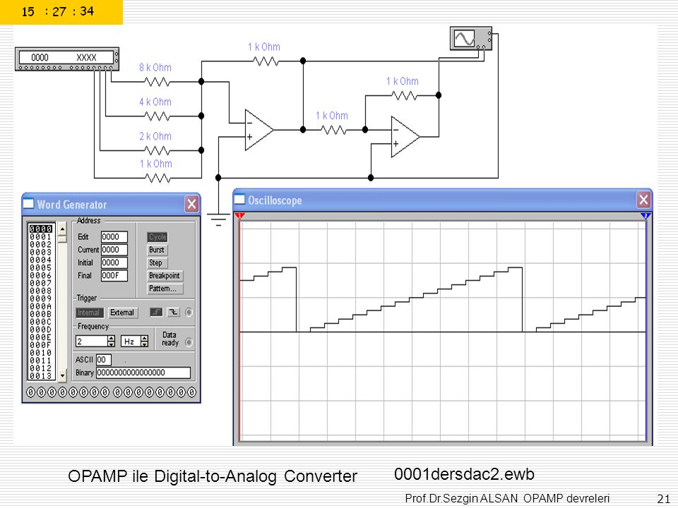 OPAMP ile Digital-to-Analog Converter