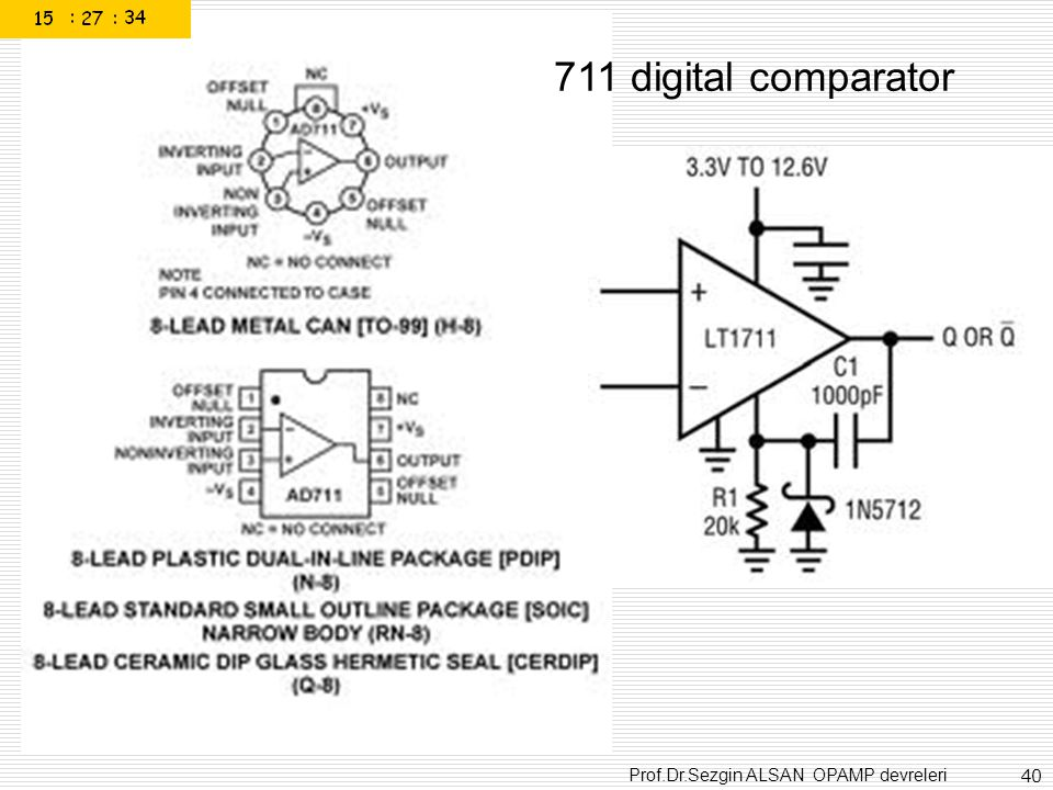 711 digital comparator