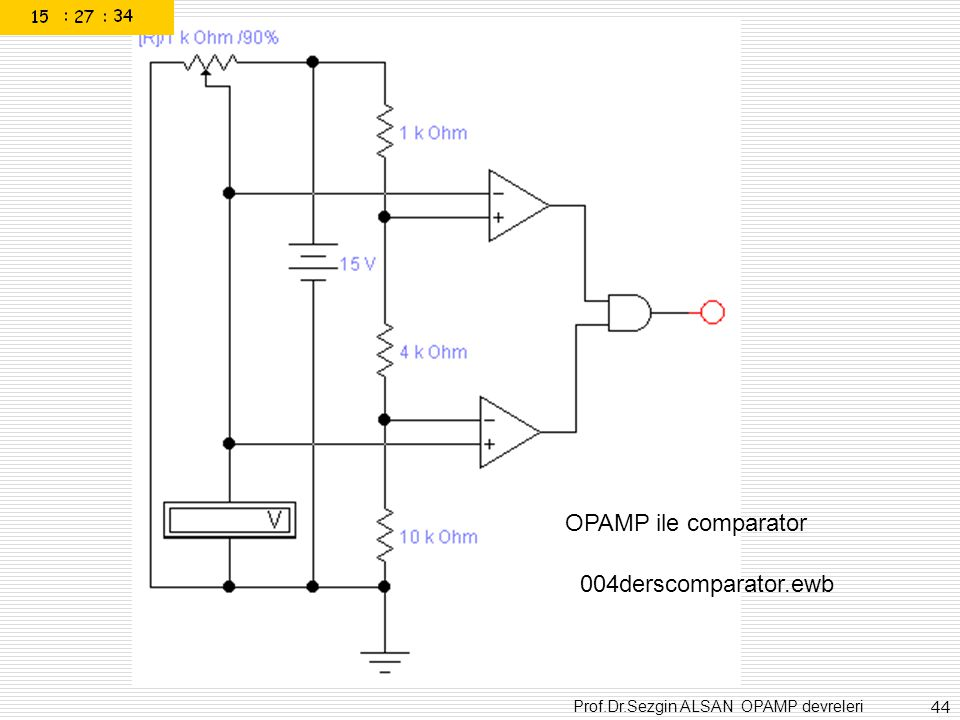 OPAMP ile comparator 004derscomparator.ewb