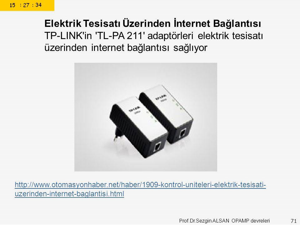 Elektrik Tesisatı Üzerinden İnternet Bağlantısı