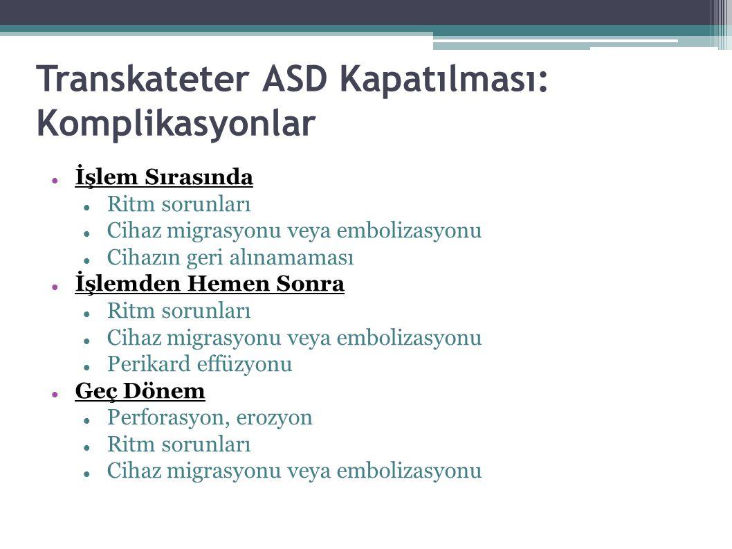 Transkateter ASD Kapatılması: Komplikasyonlar