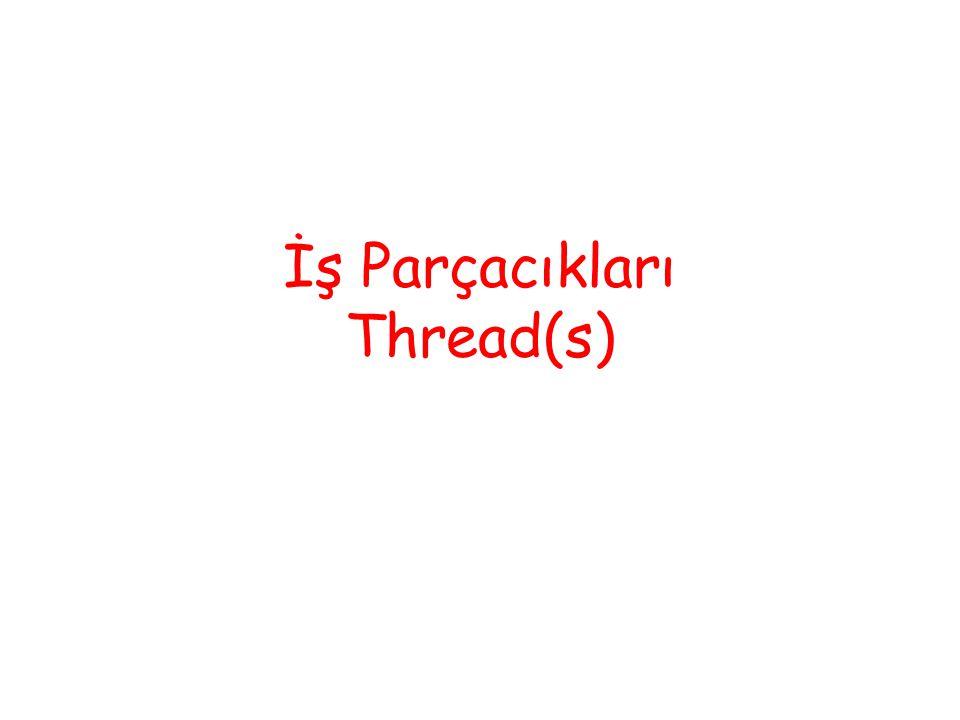 İş Parçacıkları Thread(s)