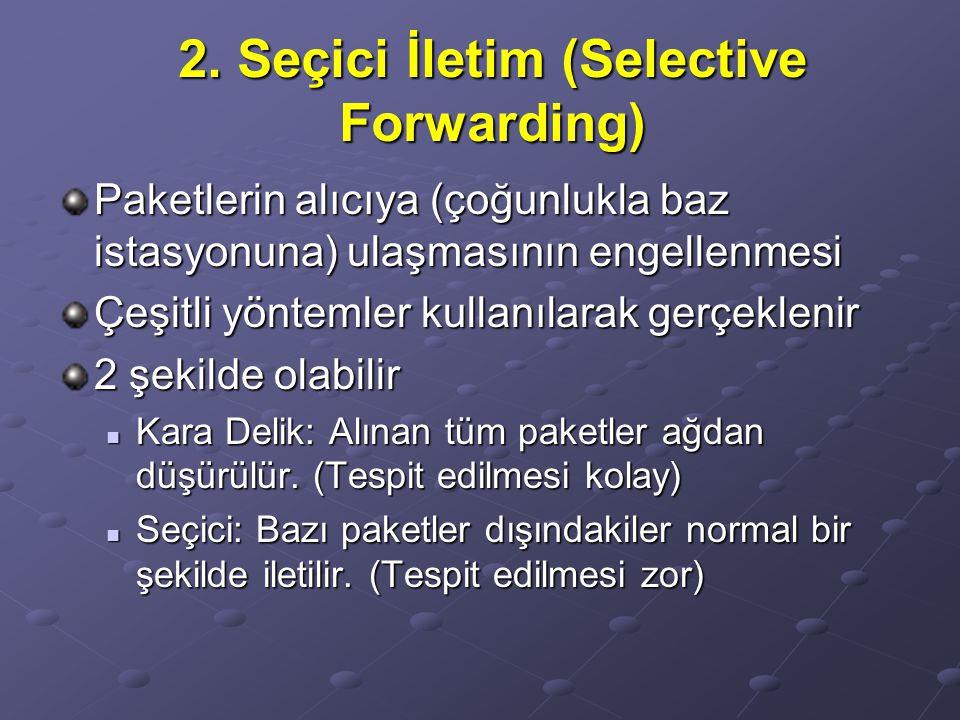 2. Seçici İletim (Selective Forwarding)