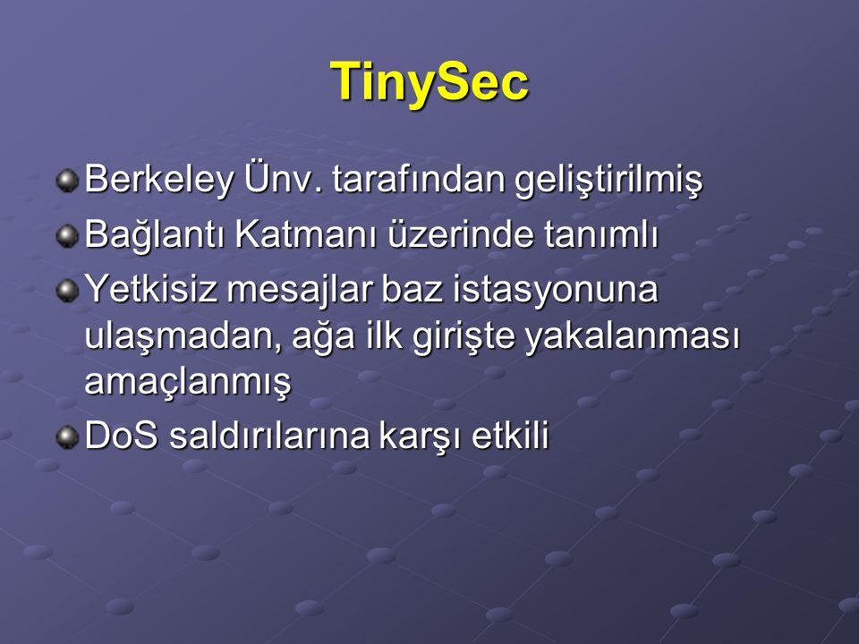 TinySec Berkeley Ünv. tarafından geliştirilmiş