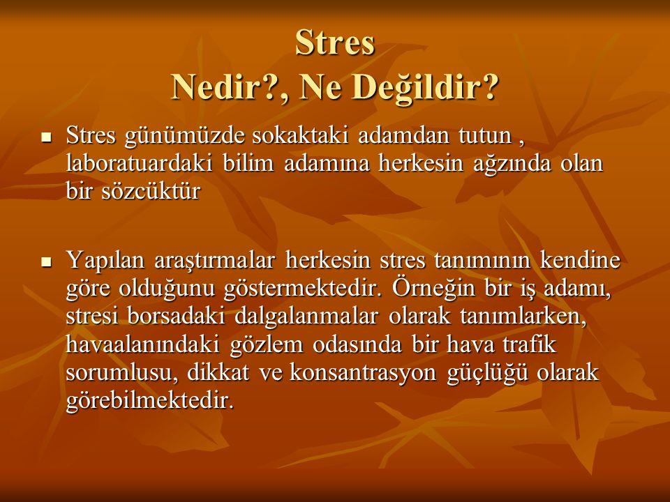 Stres Nedir , Ne Değildir