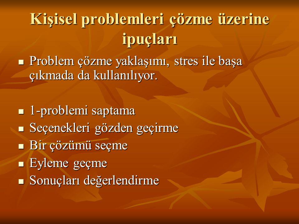 Kişisel problemleri çözme üzerine ipuçları