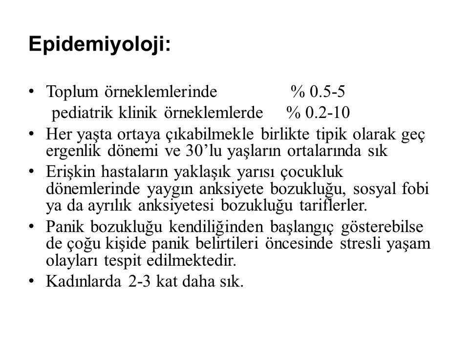 Epidemiyoloji: Toplum örneklemlerinde % 0.5-5