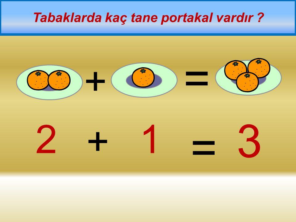 Tabaklarda kaç tane portakal vardır