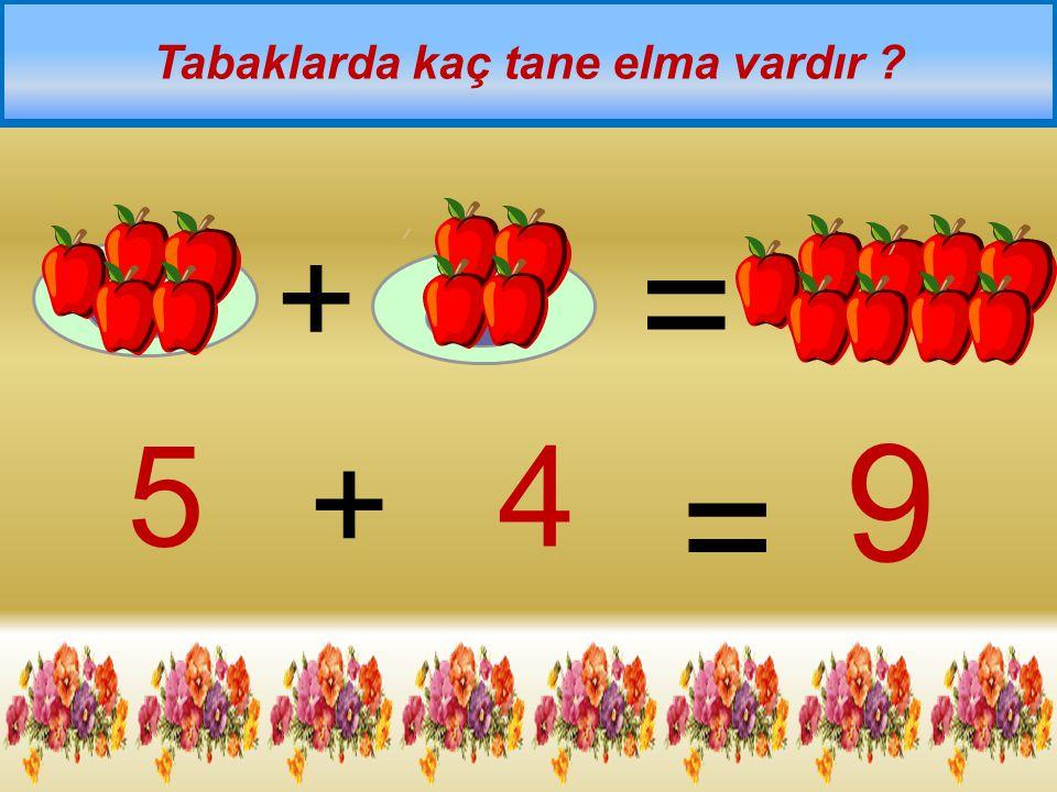 Tabaklarda kaç tane elma vardır