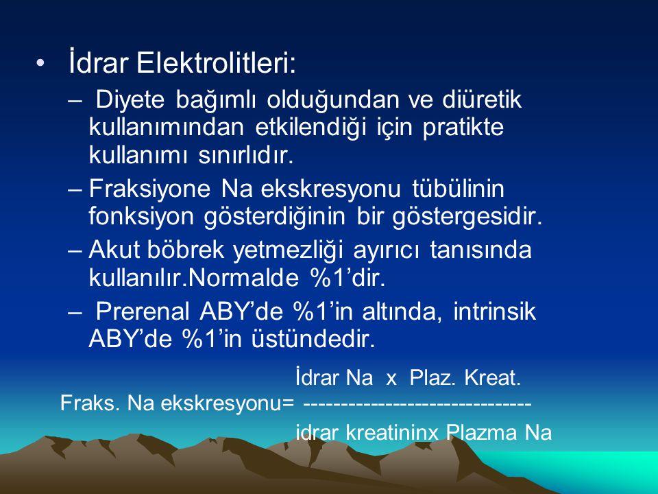 İdrar Elektrolitleri: