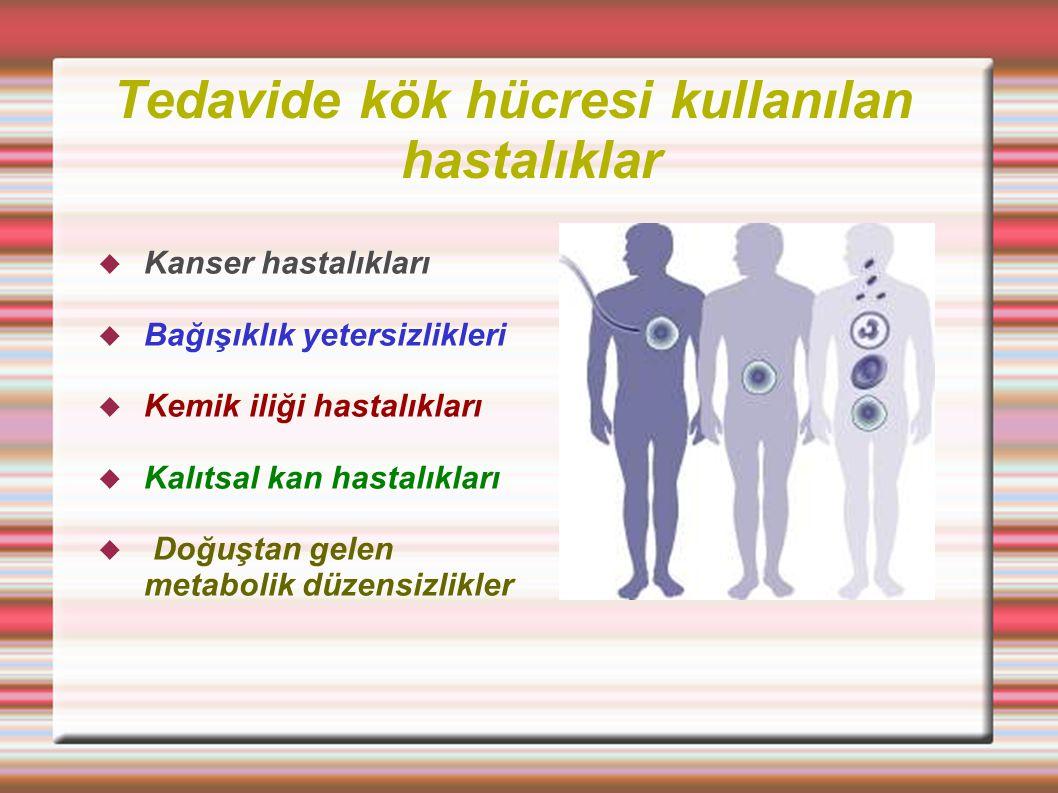 Tedavide kök hücresi kullanılan hastalıklar