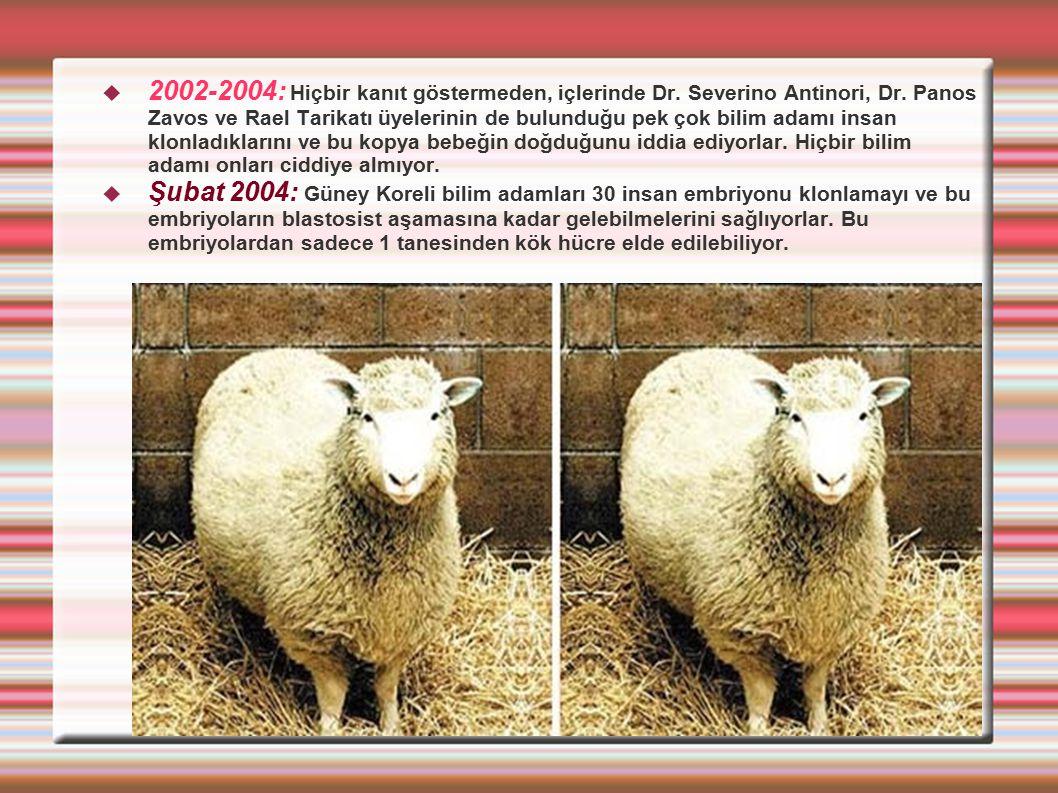 2002-2004: Hiçbir kanıt göstermeden, içlerinde Dr