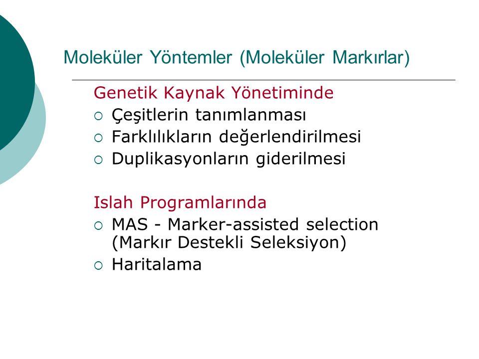 Moleküler Yöntemler (Moleküler Markırlar)