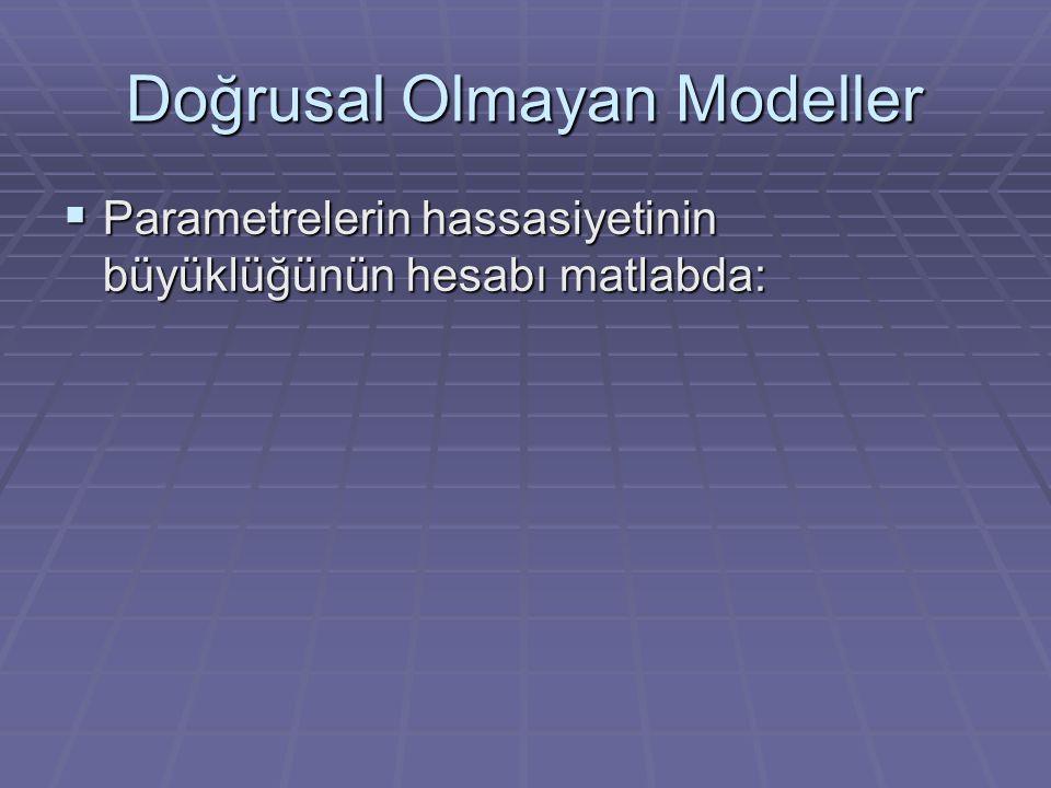Doğrusal Olmayan Modeller