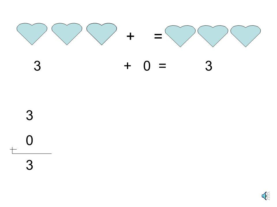 + = 3 + 0 = 3 3