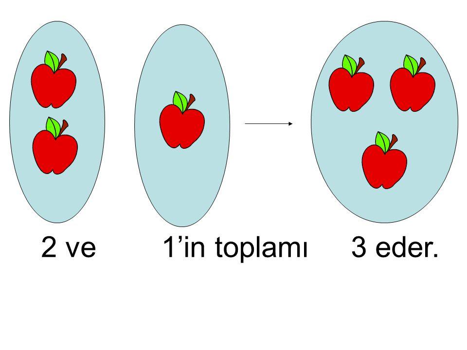 2 ve 1'in toplamı 3 eder.