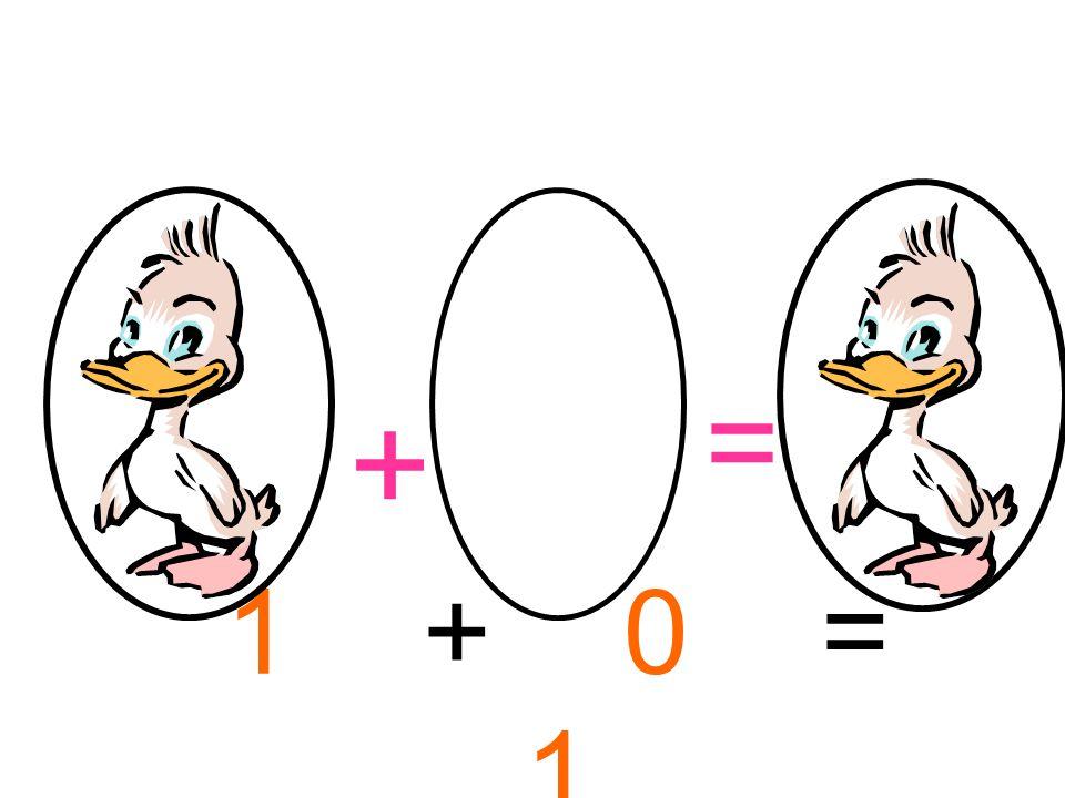 = + 1 + 0 = 1