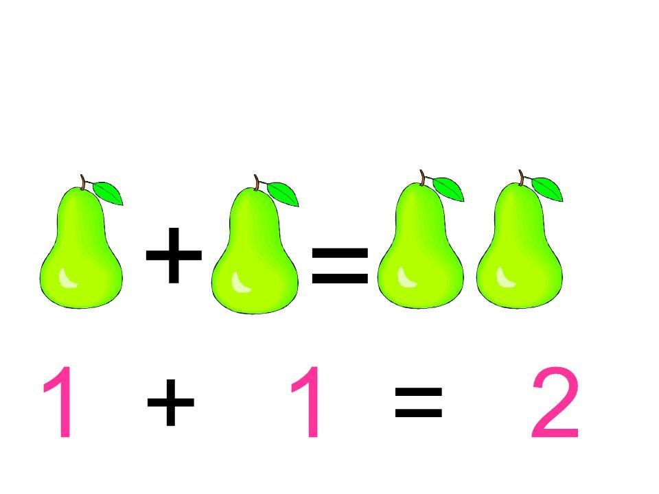 + = 1 + 1 = 2