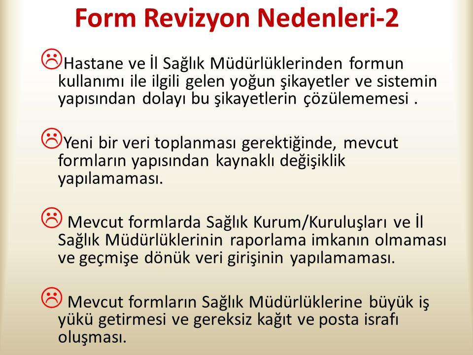 Form Revizyon Nedenleri-2