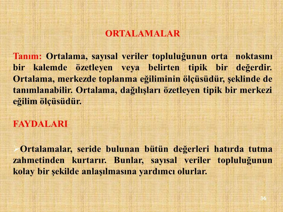 ORTALAMALAR