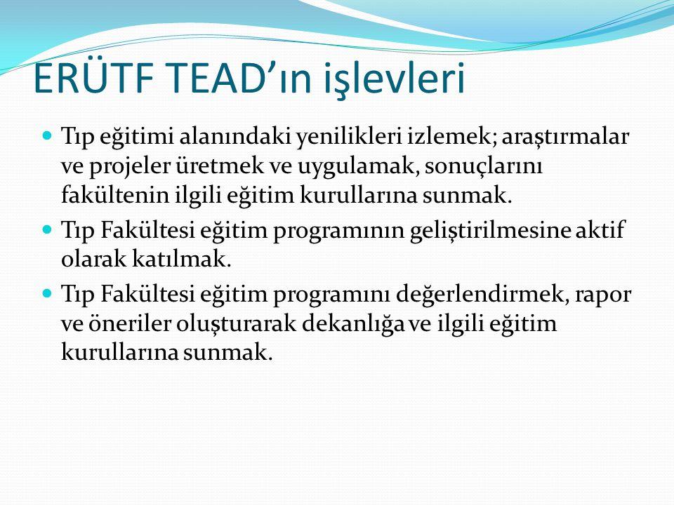 ERÜTF TEAD'ın işlevleri