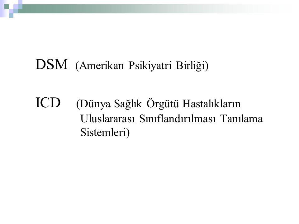 DSM (Amerikan Psikiyatri Birliği)