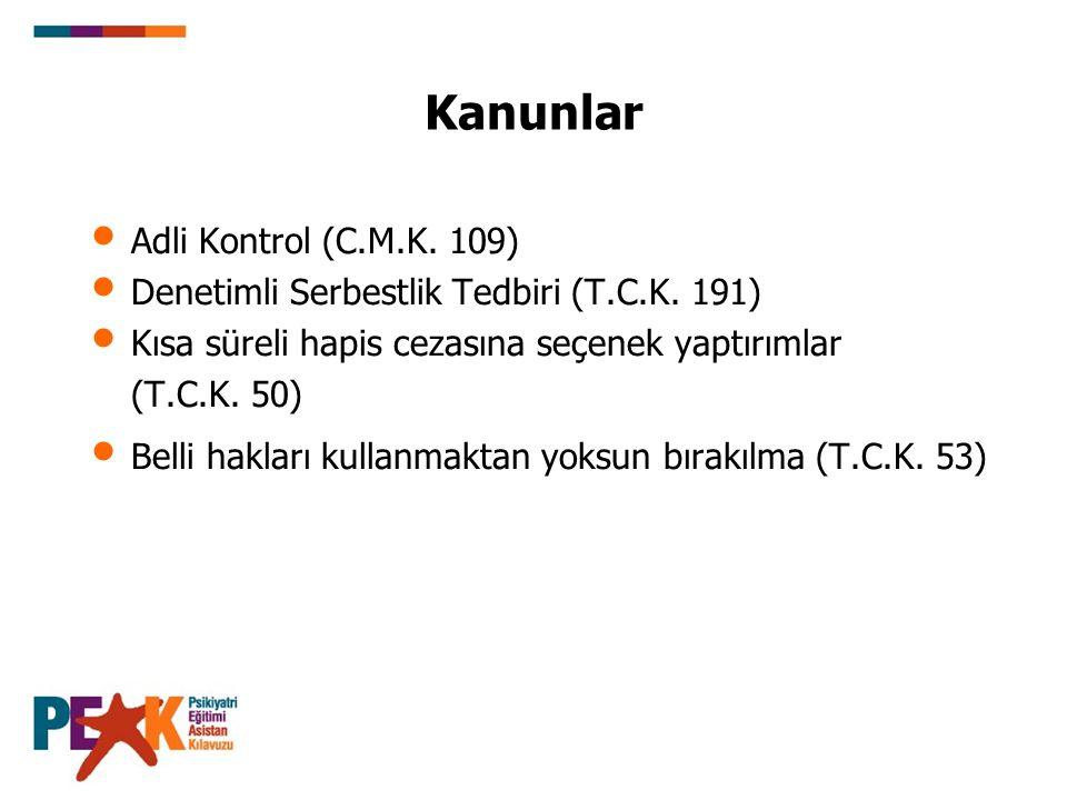 Kanunlar Adli Kontrol (C.M.K. 109)