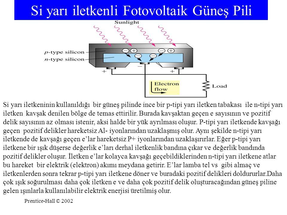 Si yarı iletkenli Fotovoltaik Güneş Pili
