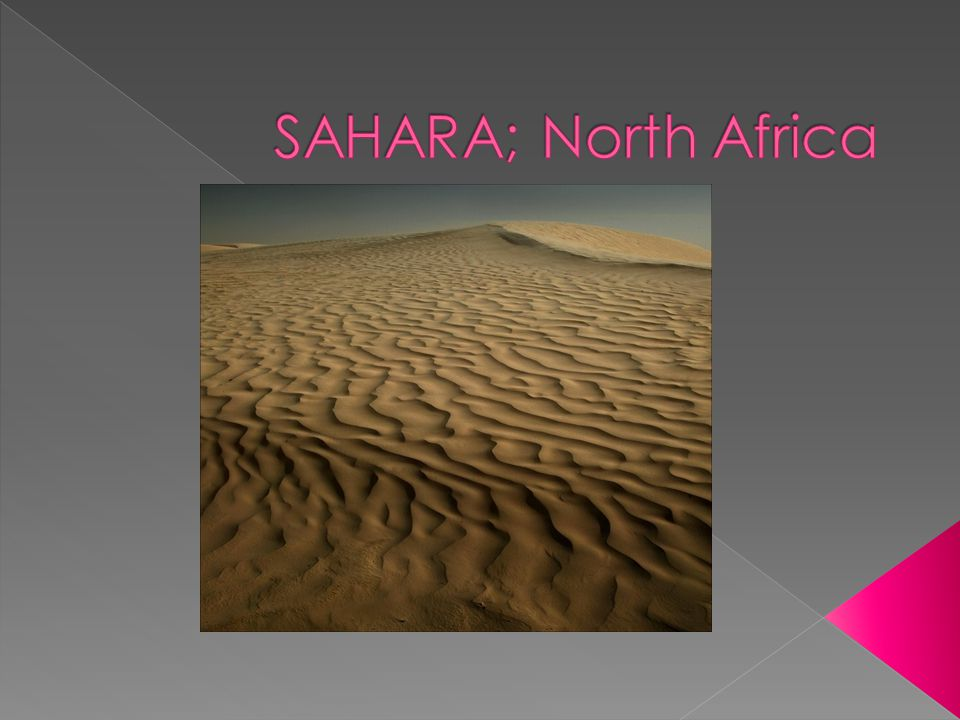 SAHARA; North Africa