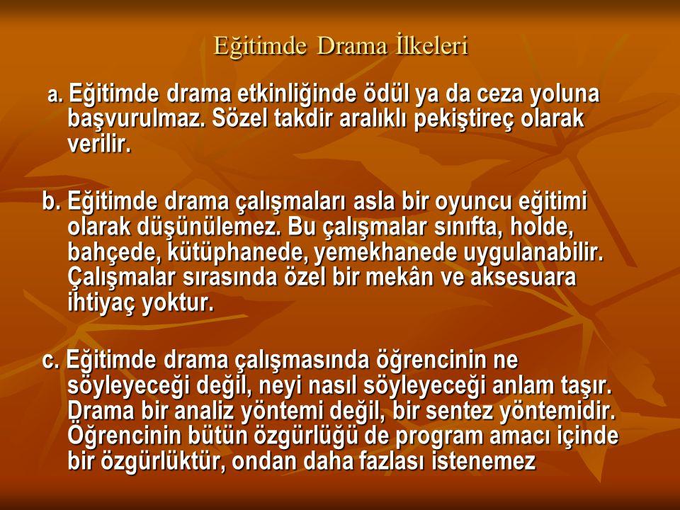 Eğitimde Drama İlkeleri