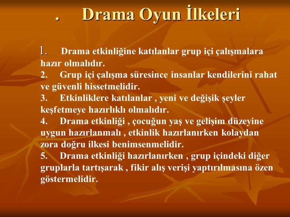 . Drama Oyun İlkeleri