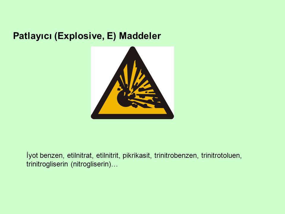 Patlayıcı (Explosive, E) Maddeler