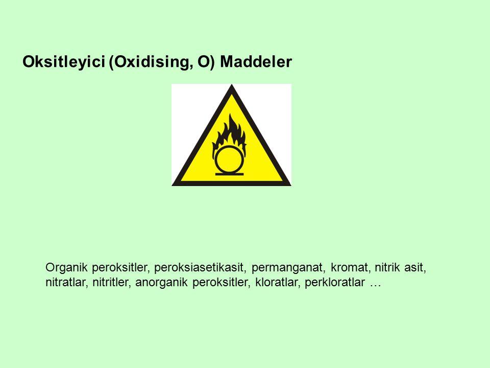 Oksitleyici (Oxidising, O) Maddeler
