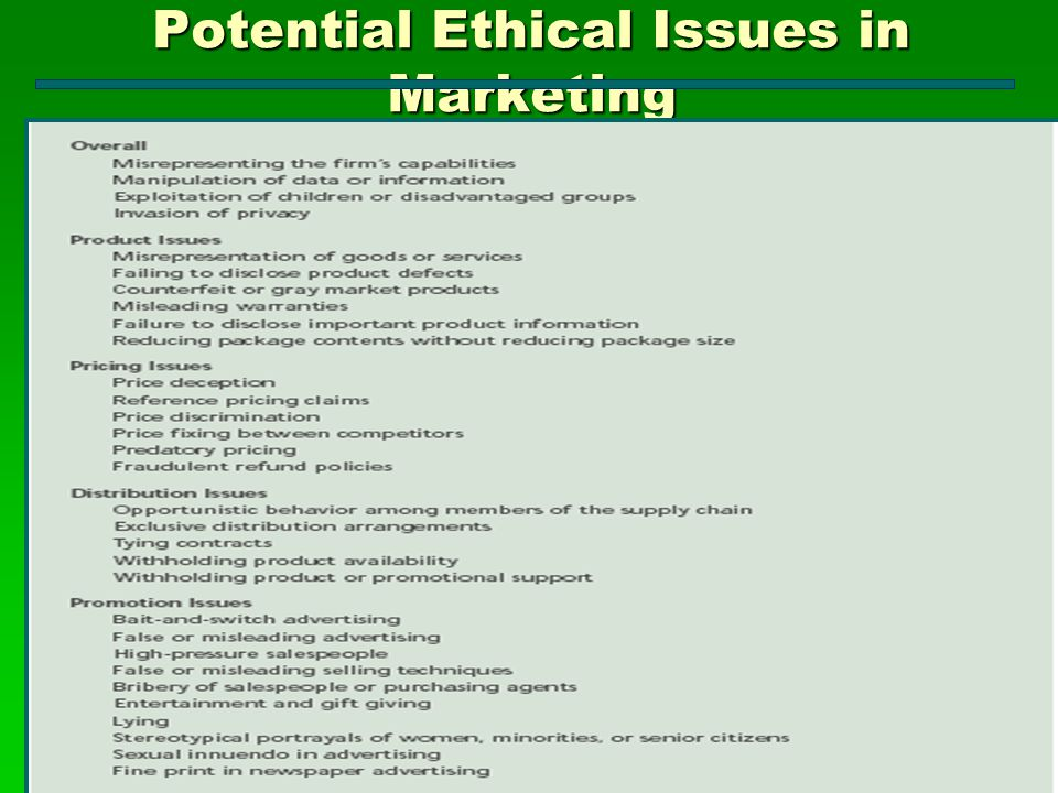 ethical issues in supply chain