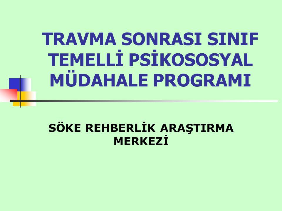 TRAVMA SONRASI SINIF TEMELLİ PSİKOSOSYAL MÜDAHALE PROGRAMI