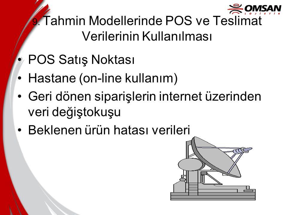 9. Tahmin Modellerinde POS ve Teslimat Verilerinin Kullanılması