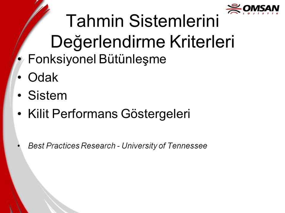 Tahmin Sistemlerini Değerlendirme Kriterleri
