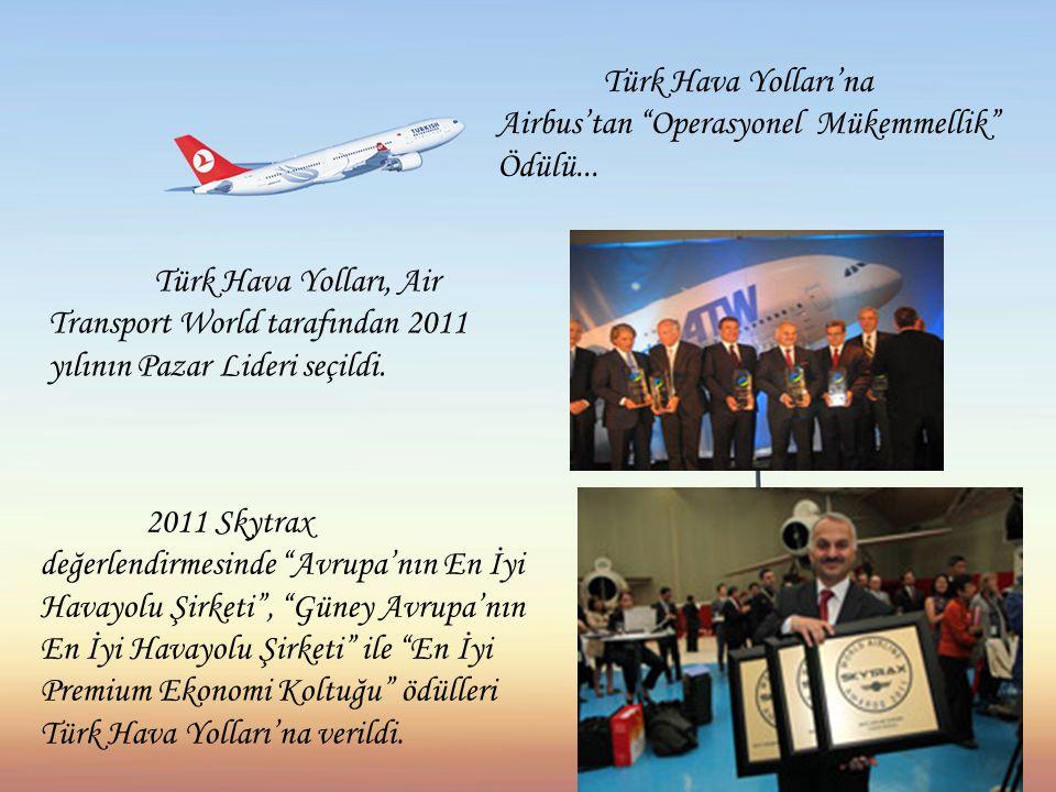 Türk Hava Yolları'na Airbus'tan Operasyonel Mükemmellik Ödülü...