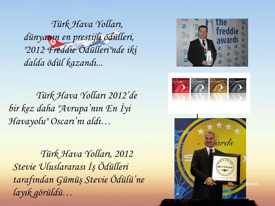 Türk Hava Yolları, dünyanın en prestijli ödülleri, 2012 Freddie Ödülleri nde iki dalda ödül kazandı...