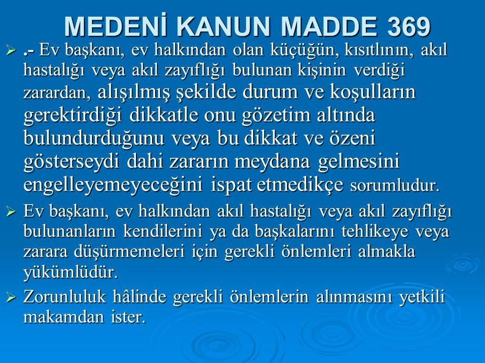 MEDENİ KANUN MADDE 369