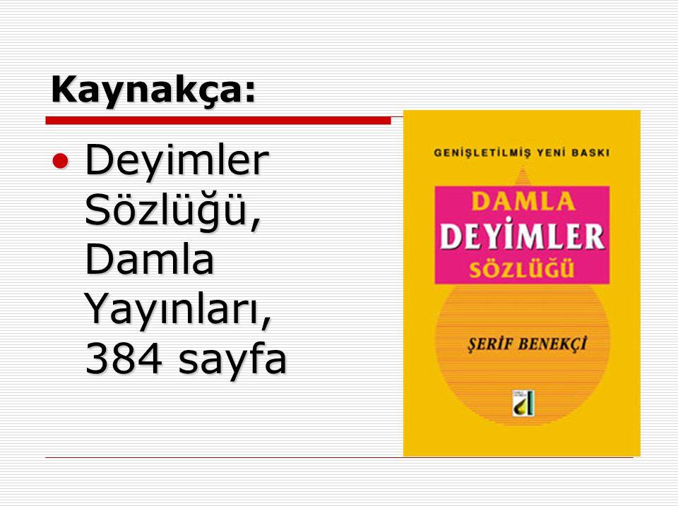 Deyimler Sözlüğü, Damla Yayınları, 384 sayfa