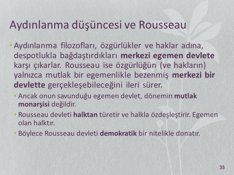 Aydınlanma düşüncesi ve Rousseau
