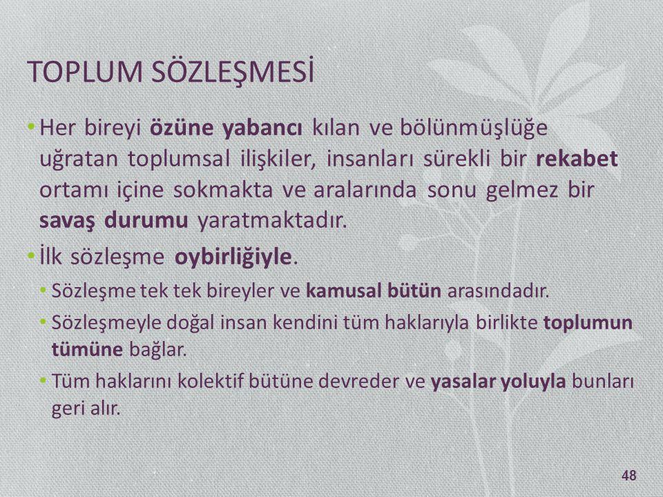 TOPLUM SÖZLEŞMESİ